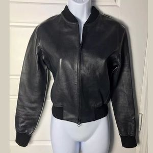 Vince lambskin leather bomber jacket Xs